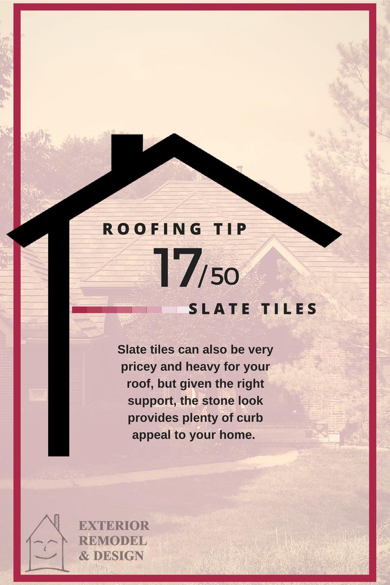 Slate tiles for roofing