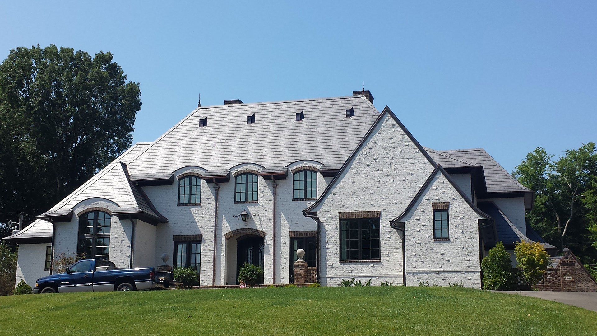 Attractive Exterior Remodel Design Slate Roof Exterior Distance2