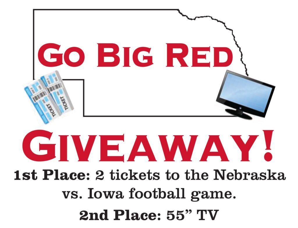 Go Big Red Giveaway Graphic